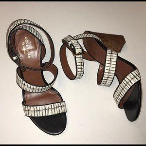 COLE HAAN black & white heels